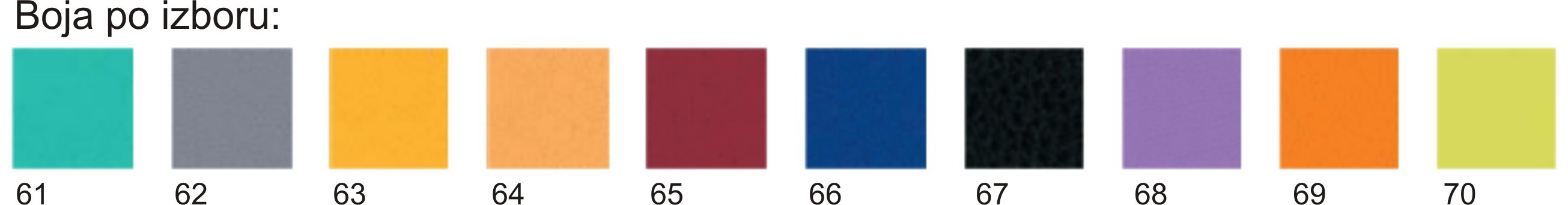 boje stolova 61-70