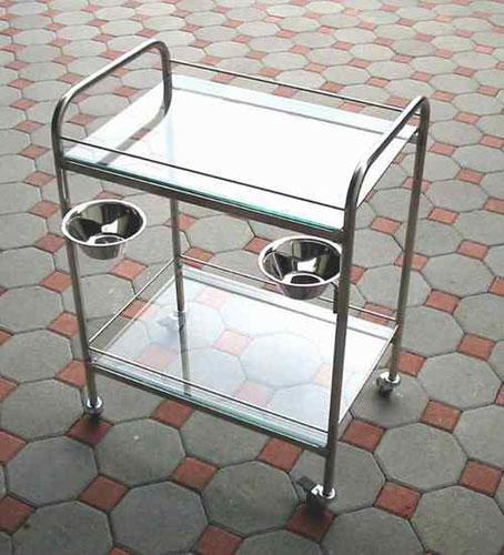 kolica za instrumente staklo