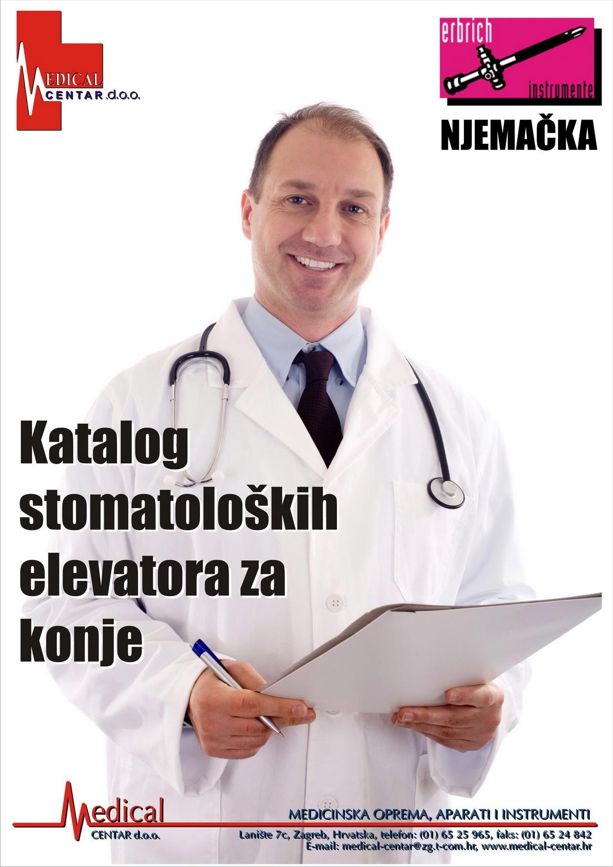 katalog stomatoloških elevatora za konje - naslovnica