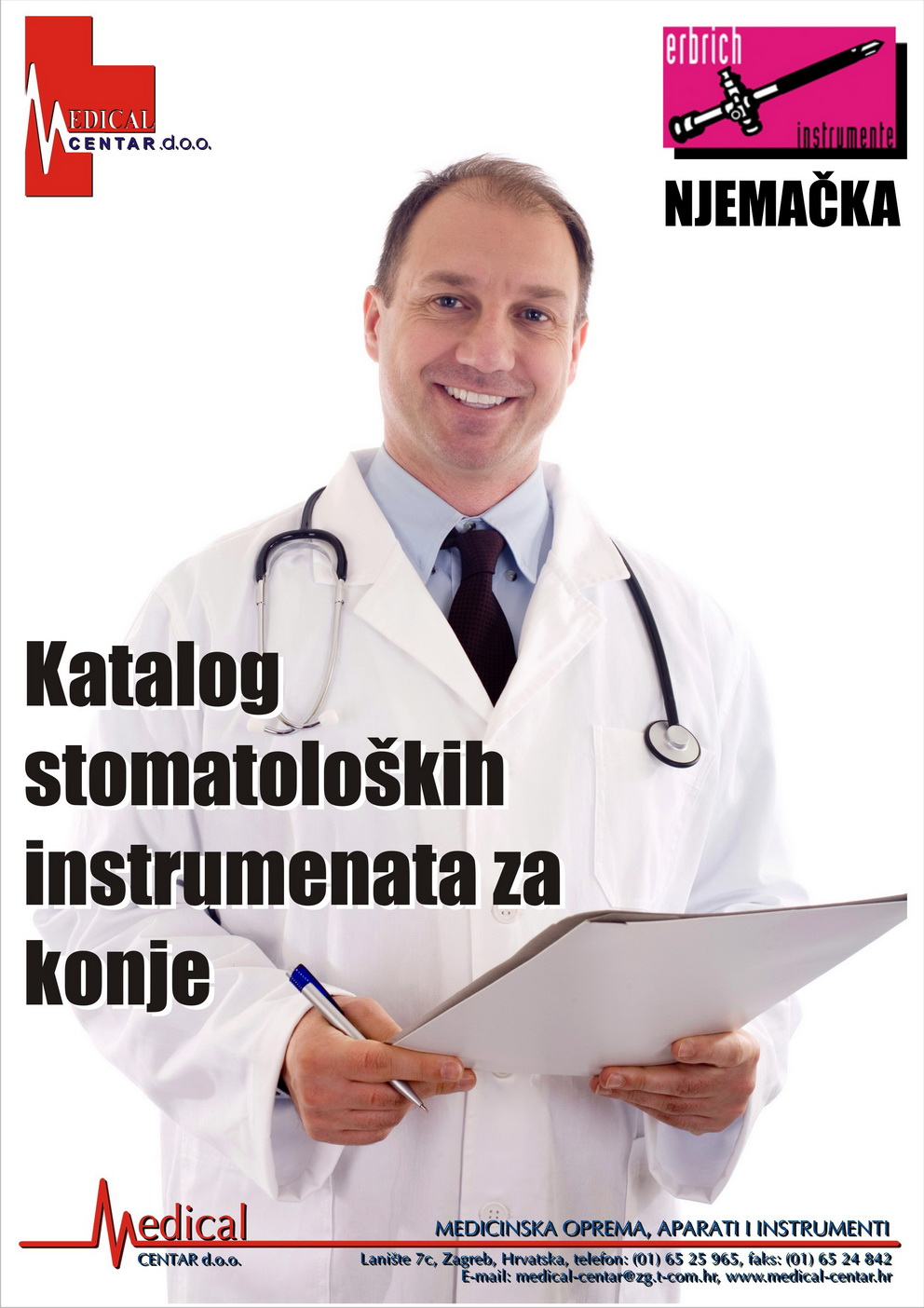 katalog stomatoloških instrumenata za konje - naslovnica