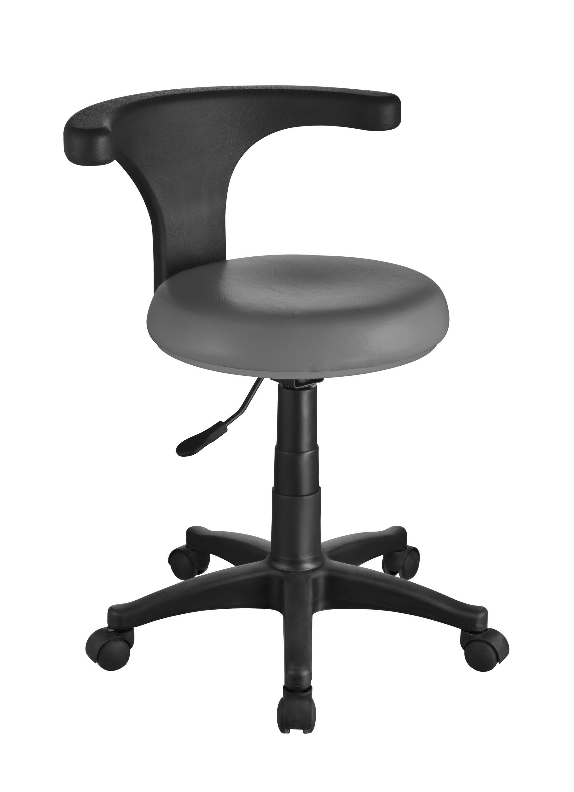stolica s kružnim naslonom siva